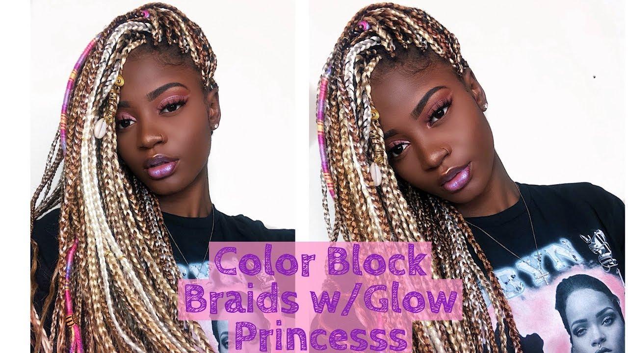 hair tutorial color blocked
