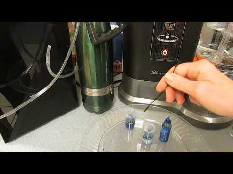 Hydrogen Water And Hydrogen Gas Machine Comparison Testing With Blue Drops