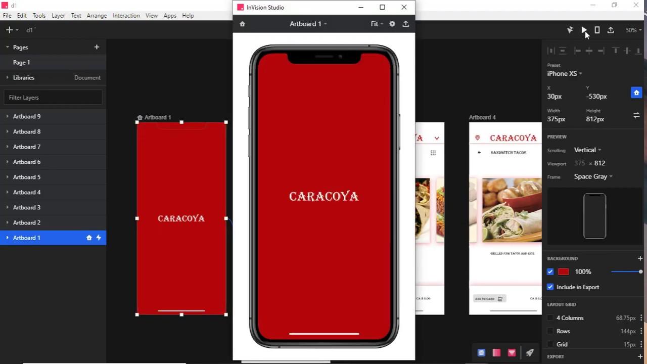UI - UX POS app Mobile UI Design Modern in Iphone XS with InVision Studio