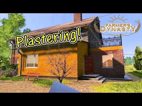 Let's Play Farmer's Dynasty #21: Plastering!
