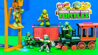 TEENAGE MUTANT NINJA TURTLES Nickelodeon TMNT Train Robbery a TMNT Video Parody