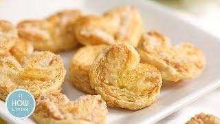 千層蝴蝶酥餅做法 2種材料【簡單甜點】食譜影片 Puff Pastry Palmiers Recipes│HowLiving美味生活