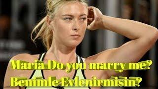 İstanbul'da Sharapova'ya Evlenme Teklifi Ediliyor ! Video