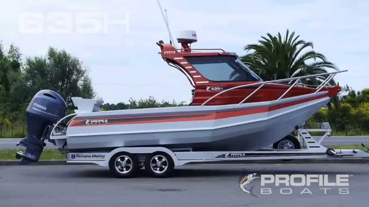 Profile boats video 635h alloy aluminium plate fishing for Outboard motors for sale nz