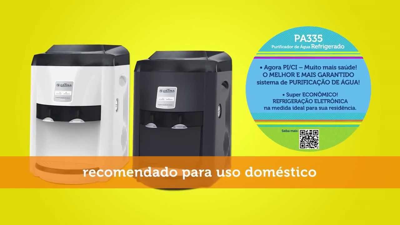 b7884cc904c Purificador de Água Latina PA335 - YouTube