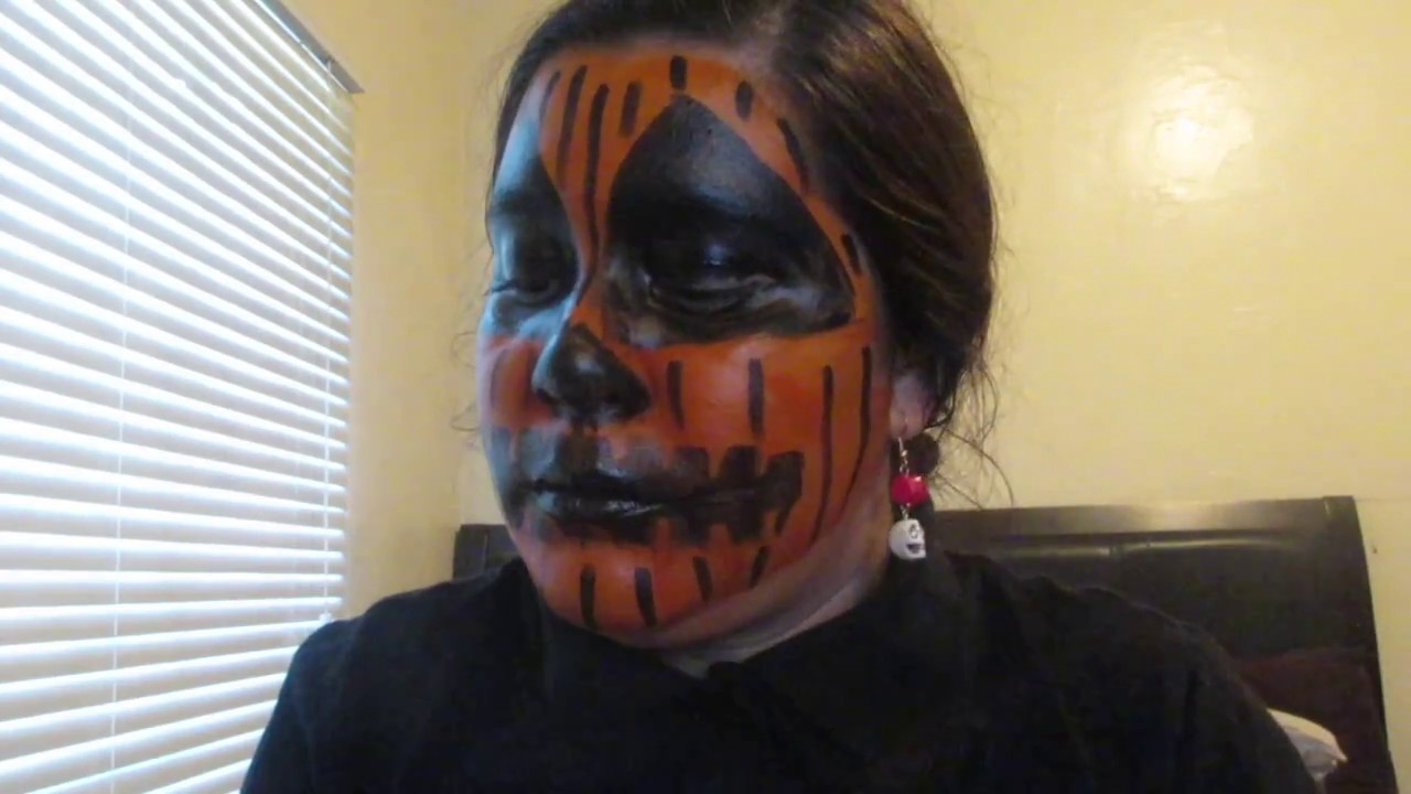 Scary Pumpkin Face Paint Norma A Maganda