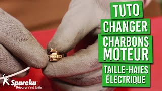 Tuto - Comment changer les balais de charbon moteur du taille haies électrique