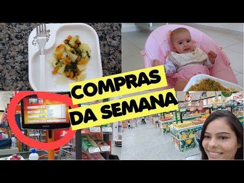 FAZENDO A FEIRA DA SEMANA - Verduras e legumes para a bebê Laura