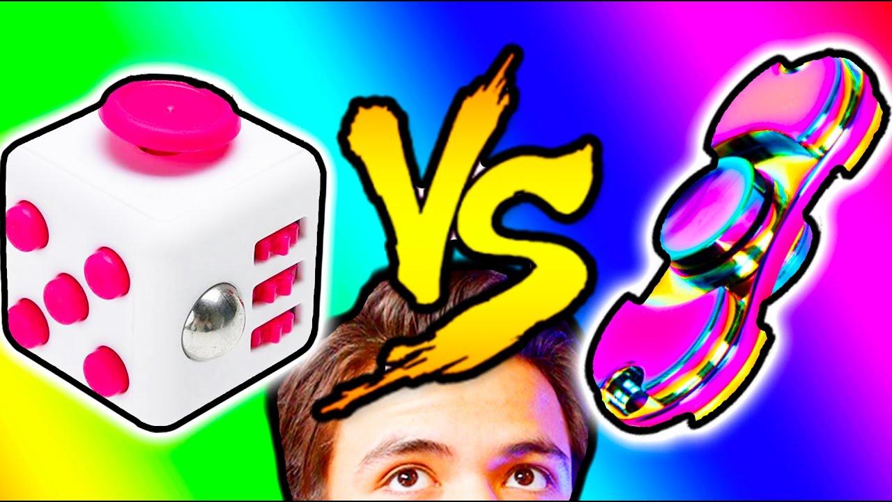 FIDGET SPINNER VS FIDGET CUBE?  - Fidget Spinners are 2017's NEW and HOT toy. Best fidget spinner? or best fidget cube?