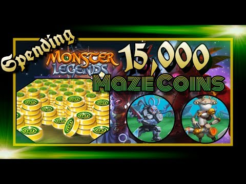 Monster Legends - Spending 15,000 Maze Coins - Space Raiders Maze
