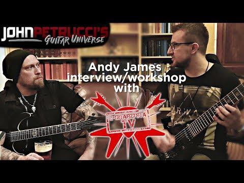 INTERVIEW/WORKSHOP WITH ANDY JAMES BY JAROSŁAW NYCKOWSKI - e-gitarzystaTV