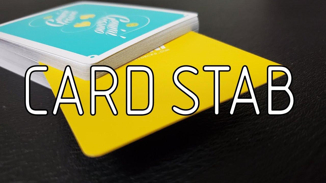 learn the card stab magic trick  easy card tutorial  youtube