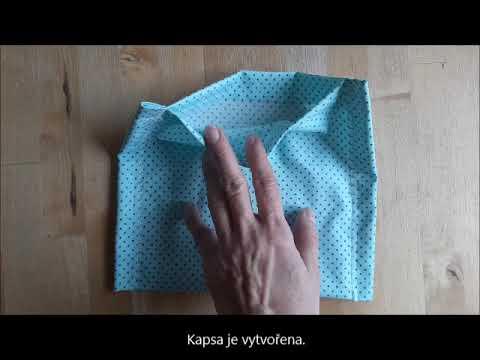 Návod bavlněná rouška TUL s kapsou na filtr