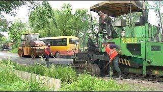 Дорожный ремонт охватывает все новые участки уссурийской проезжей части