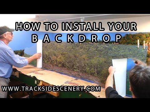 How to install your model railroad backdrop