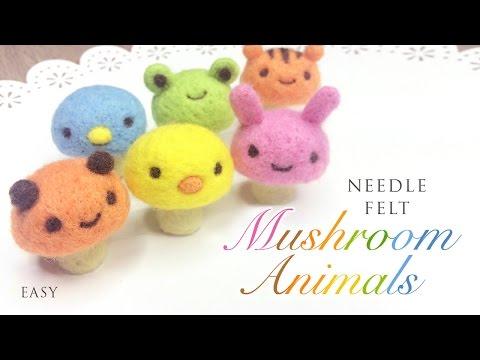 DIY Mushroom Animals - Cute Felting ASMR Video