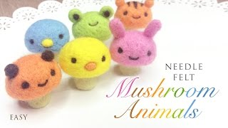 DIY Mushroom Animals - Cute Felting ASMR Video