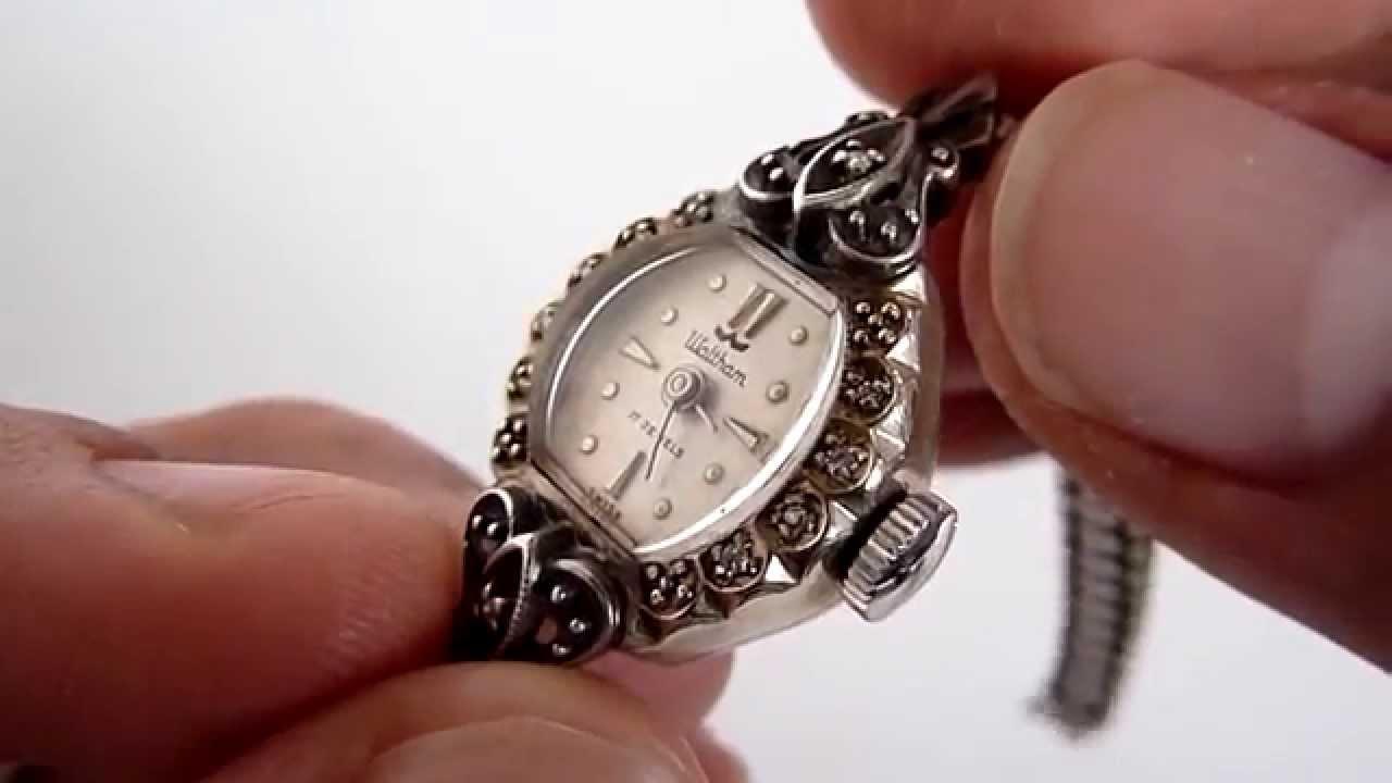 A la venta reloj waltham para dama de oro blanco de 10k - Relojes rusticos de pared ...