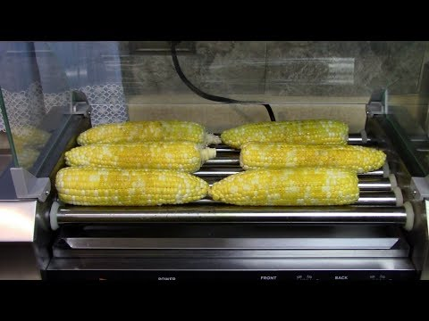 Corn On The Cob On A Roller Grill