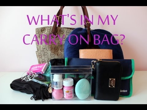 ✈ What's in my carry on bag? | Diary of a Girly Girl - YouTube