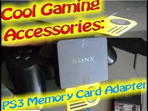 Cool Gaming Accessories: PS3 Memory Card Adapter - YouTube