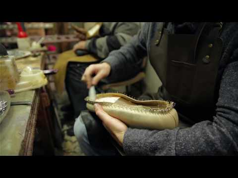 Goodyear Welt shoes. Filmed by screensaver.