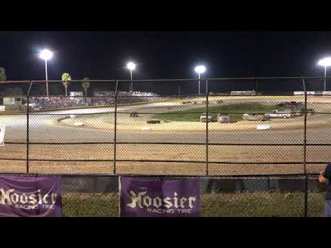 Modified Lite flip at Hendry County Motorsports Park. Driver - Larry Hubbard Jr. - dirt track racing video image