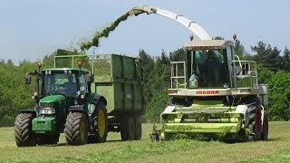 Lifting Grass for Silage Claas Jaguar 820 & JD  - Silage 2018