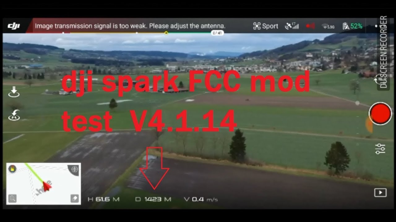 DJI SPARK how to change FCC mod version 4 1 14 (2018)