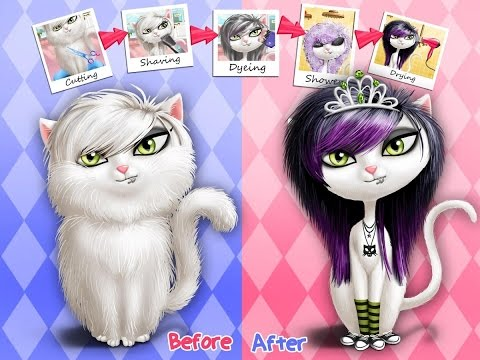 Animal Hair Salon Cut, color, wash, dry and curl hair Android İos TutoTOONS FULL Free GAMEPLAY VİDEO
