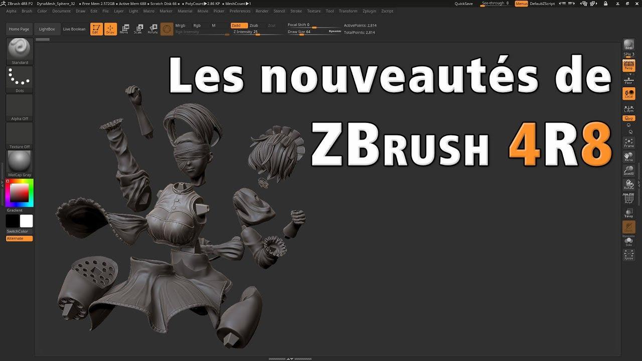 Les nouveautés de ZBrush 4R8 par Polysculpt.com - YouTube