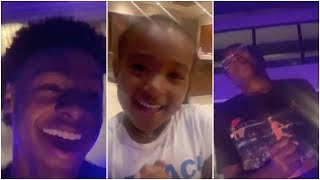 Even when LeBron's not there, Bronny, Bryce & Zhuri can't stop celebrating Taco Tuesday