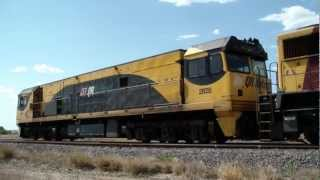 Freight train in Queensland, Australia - Arrives for change of driver.