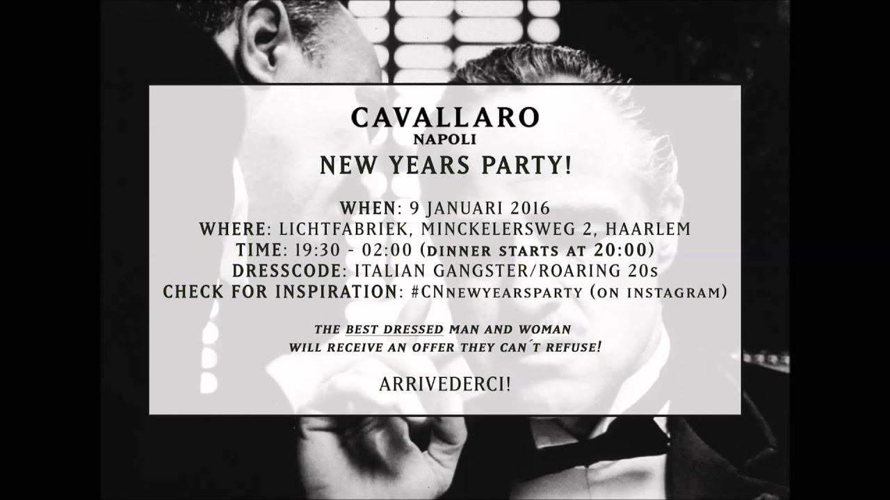 INVITE - Cavallaro Napoli New Years Party - YouTube