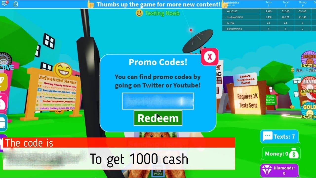 Roblox Code Texting Simulator Youtube