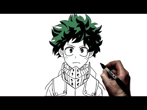 How To Draw Deku | Step by Step | My Hero Academia