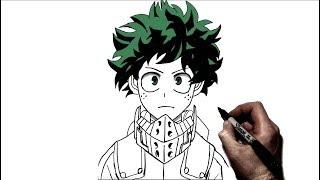 How To Draw Deku | Step by Step | My Hero Academia