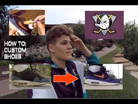 ANAHEIM MIGHTY DUCKS CUSTOM SHOES | HOW TO: VLOG