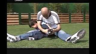 Zidane and his sons playing football
