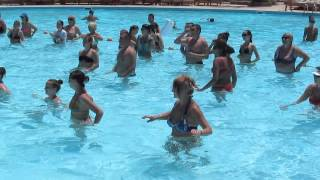 Водная аэробика в отеле Фестиваль Ле Жардин 5*, Хургада,Египет.