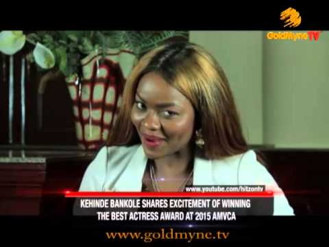 ACTRESS KEHINDE BANKOLE SHARES EXCITEMENT OF WINNING THE BEST ACTRESS AWARD AT 2015 AMVCA