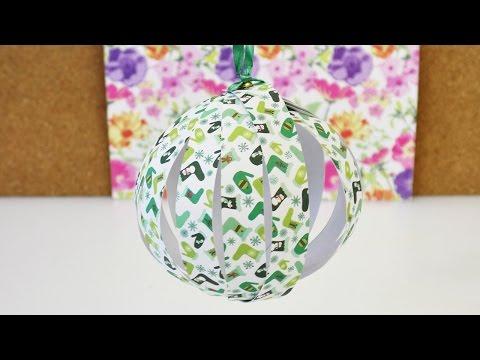 Weihnachtsbaum Schmuck selber machen |  Papier Deko Kugel für Weihnachten basteln | DIY