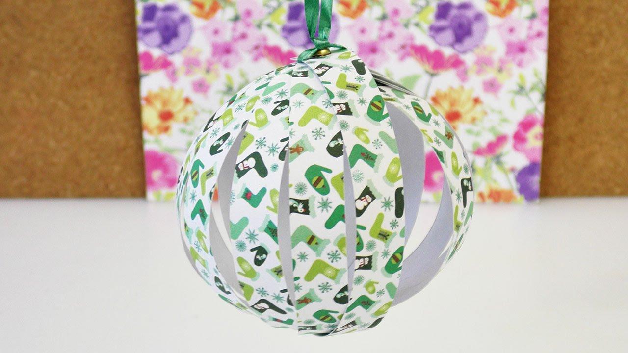 weihnachtsbaum schmuck selber machen papier deko kugel f r weihnachten basteln diy youtube. Black Bedroom Furniture Sets. Home Design Ideas