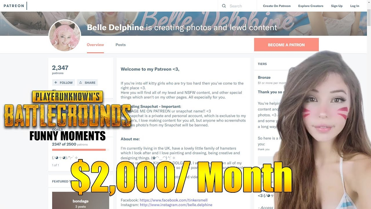 belle delphine patreon