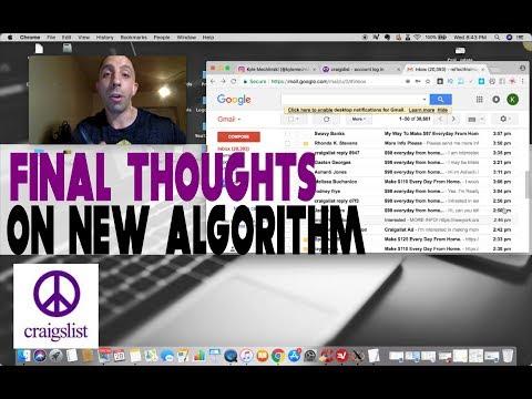 Craigslist Algorithm Change 2018 Final Results & Final Thoughts
