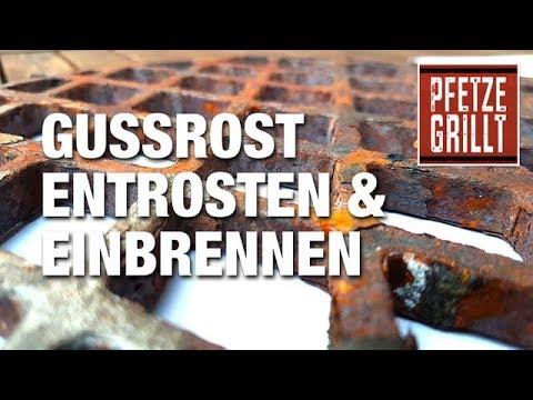 Landmann Gasgrill Einbrennen : Grill gussrost entrosten und einbrennen pfetze grillt folge 7