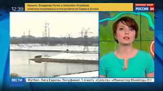 "МОСКВА 24. ""Погода 24"": авария на Рыбинском шлюзе"