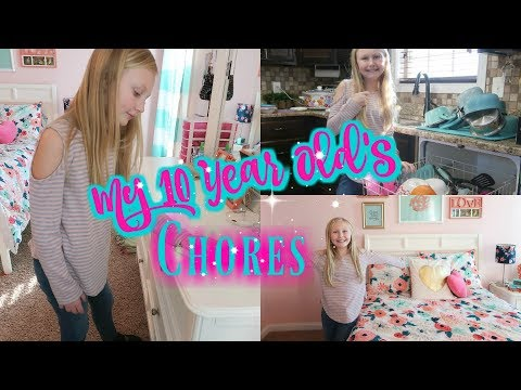 My Ten Year Old's Chores and Responsibilities//What Are Age Appropriate Chores For My Child?