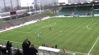 AB's mål i 2-1 sejren over Skive 12 april 2015 af fødselar Rasmus H...