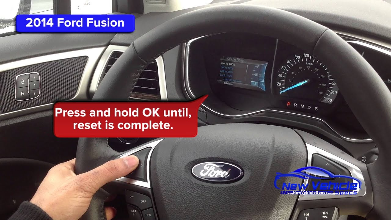 2014 Ford Fusion Oil Light Reset Service Light Reset Youtube